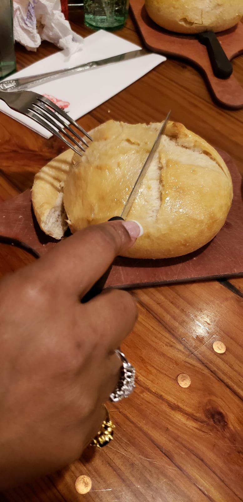 Chowder pot butter bread